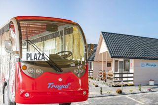 Domki BIAŁA PERŁA Jezierzany Bus na plażę