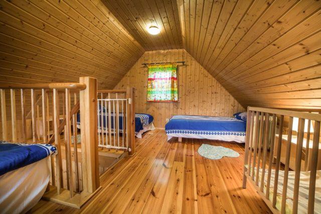 Domki Drewniane Całoroczne PLEJADY Dźwirzyno Domek 4 osobowy - sypialnia
