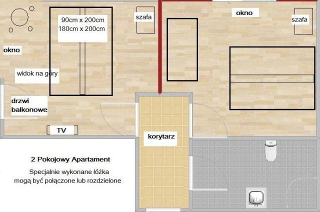 GÓRSKI WIDOK Pokoje Apartamenty Karpacz Pokój Typu Apartament