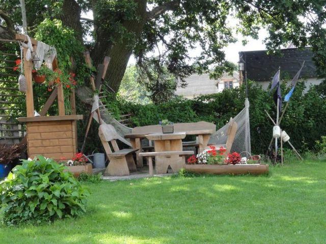 Pokoje Gościnne NORDA Ostrowo ogród do dyspozycji gości