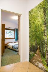 Domek i Apartamenty LUNARIA Karpacz Sypialnia zielony