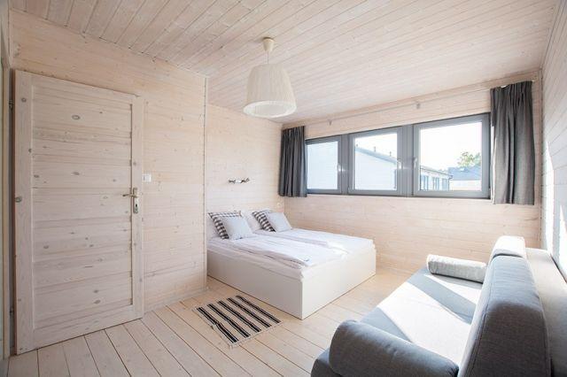 Apartamenty Łódź Wikingów Rowy sypialnia apartament 4 osobowy