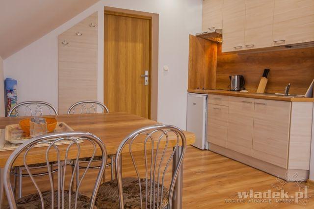 Willa MILENA Władysławowo aneks kuchenny w apartamencie nr 1