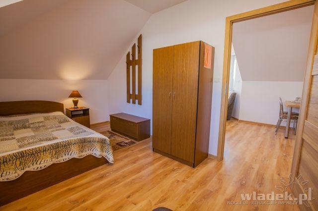 Willa MILENA Władysławowo sypialnia w apartamencie nr 1