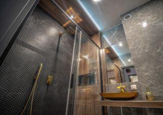 Apartament w Cieplicach 3 Delux Cieplice Łazienka kabina prysznicowa