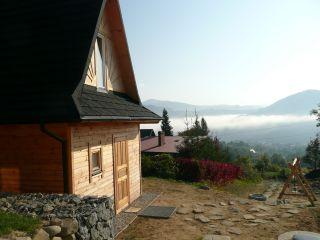 Urokliwe domki góralskie Piwniczna-Zdrój Mgła w Dolinie Popradu
