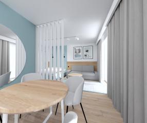 Apartamenty KARYKA Gąski Apartament Premium 1 jadalnia
