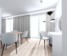 Apartamenty KARYKA Gąski Apartament Premium 1 biurko