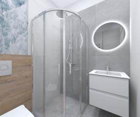 Apartamenty KARYKA Gąski Łazienka kabina prysznicowa
