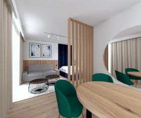 Apartamenty KARYKA Gąski Apartament Premium 2 strefa relaxu
