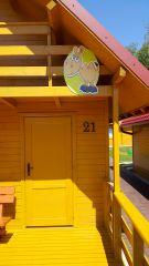 Ośrodek Wypoczynkowy Oliwia  Dźwirzyno W trosce o naszych najmłodszych oznaczyliśmy nasze domki obrazkami zwierzątek tak aby małe dzieci z łatwością mogły rozpoznać swoje miejsce zakwaterowania