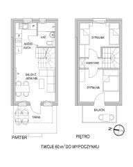 Domki Apartamentowe ITALIA Karwia Rozkład pomieszczeń