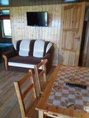 Domki Letniskowe U ANETTY Gąski Domek nr 2 z filarami 8 osbowy Salon
