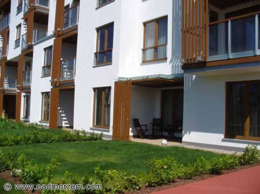 Apartamenty OLIMPIC PARK Kołobrzeg słoneczny taras na parterze