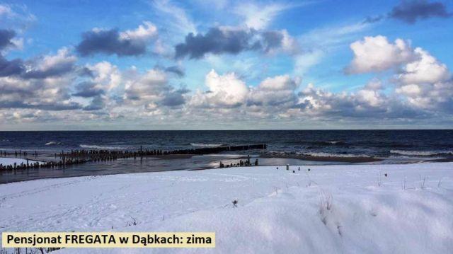 Pokoje FREGATA Dąbki Zima w Dąbkach