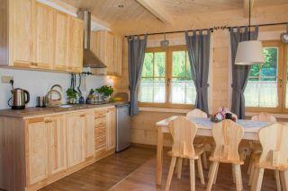 Domek TRZY DOLINY Zakopane Salon z aneksem kuchennym