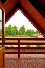 Domki ZEFIR Rowy Domki Zefir Rowy, taras na piętrze