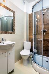 Dom Wypoczynkowy ARKA Jastrzębia Góra łazienka pokój 2 osobowy