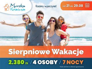 Komfortowe Domki MORSKA KRAINA Białogóra