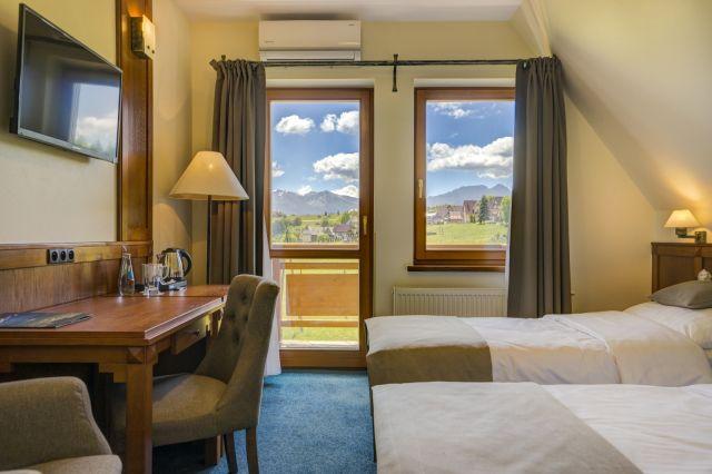 Hotel REDYK Ski&Relax*** Ząb k/Zakopanego Pokój 2-osobowy z 2 łóżkami z widokiem na góry
