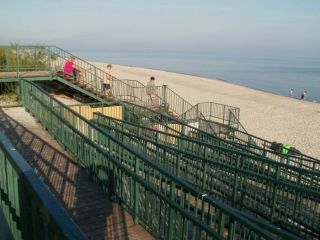 Domki Letniskowe BLISKO MORZA - 100m od plaży Międzywodzie Przy ośrodku - zejście i zjazd na plażę.